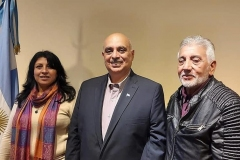 Candidatos Alejandro Biondini, Liliana Cisterna y Favio Rasgido