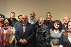 Biondini junto a otros candidatos a Diputados Nacionales del FP BsAs