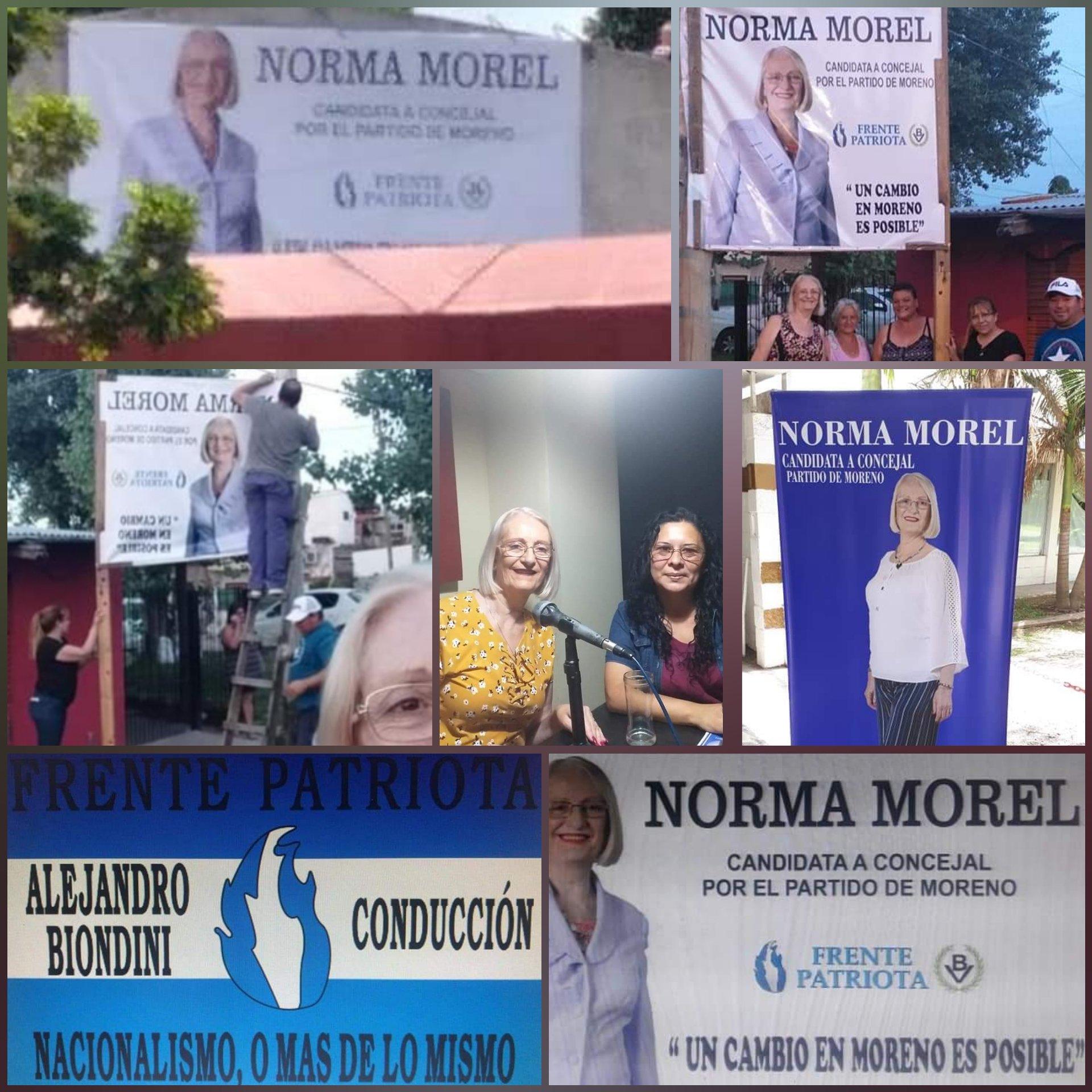Moreno: Campaña de Norma Morel