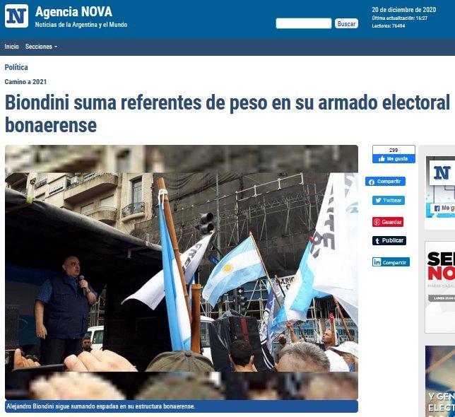 """Agencia NOVA: """"Biondini suma referentes de peso en su armado electoral bonaerense"""""""