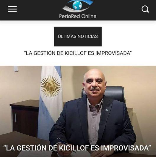 """Biondini: """"La gestión de Kicillof es improvisada"""" (PerioRed OnLine)"""